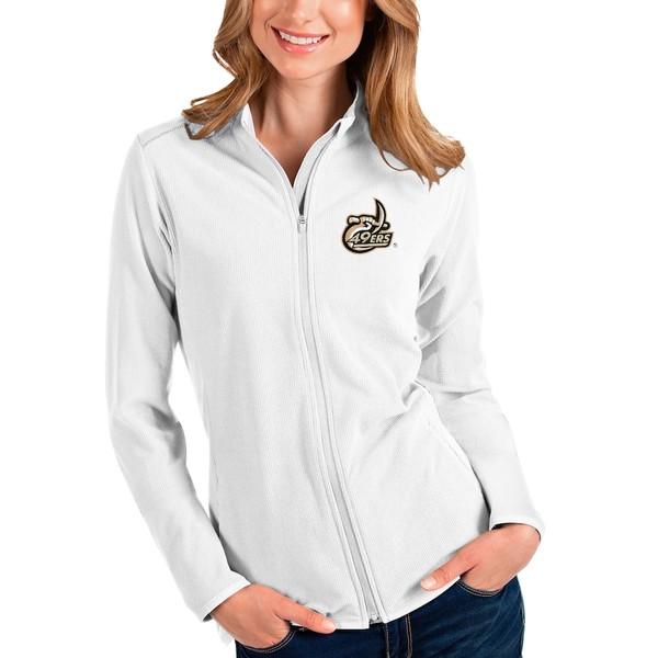 アンティグア レディース ジャケット&ブルゾン アウター Charlotte 49ers Antigua Women's Glacier Full-Zip Jacket White