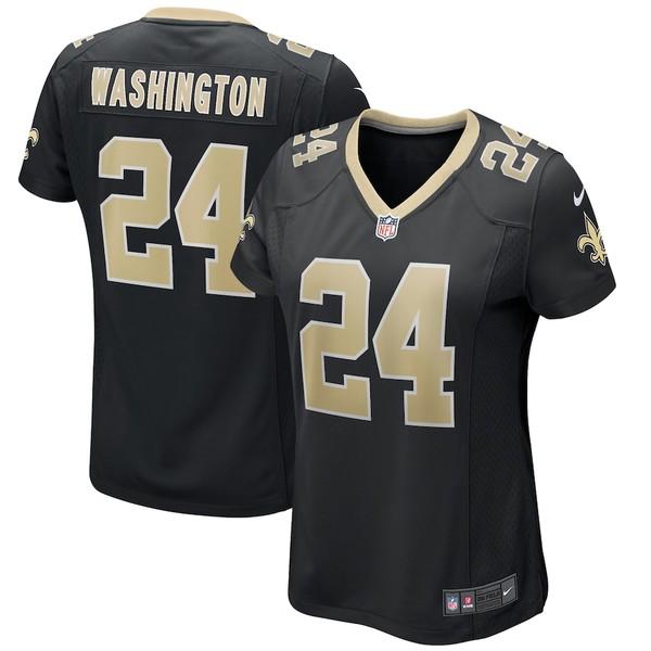 ナイキ レディース シャツ トップス Dwayne Washington New Orleans Saints Nike Women's Player Game Jersey Black