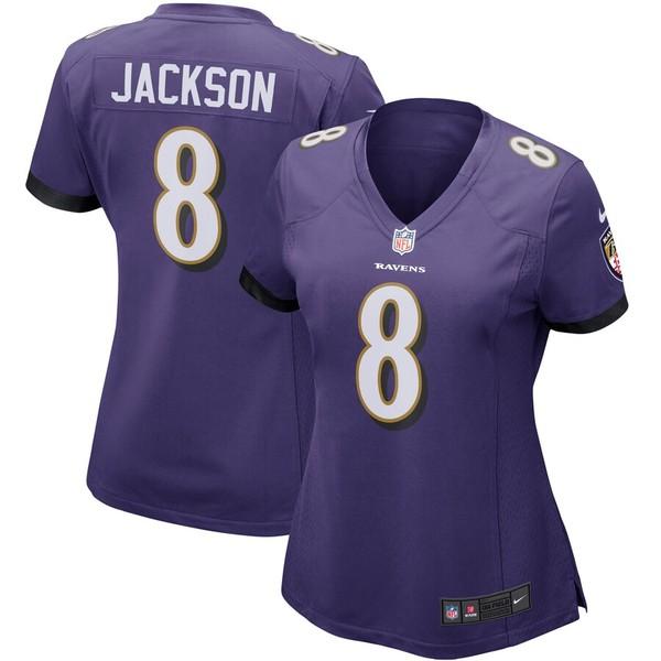 ナイキ レディース シャツ トップス Lamar Jackson Baltimore Ravens Nike Women's Game Player Jersey Purple
