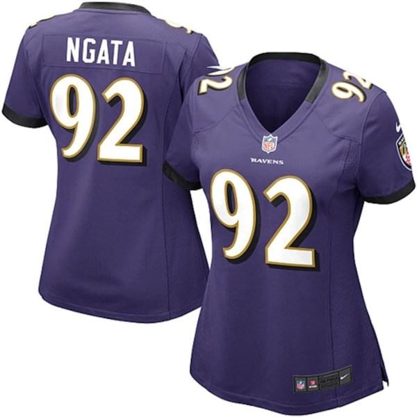 ナイキ レディース シャツ トップス Haloti Ngata Baltimore Ravens Nike Women's Game Jersey Purple