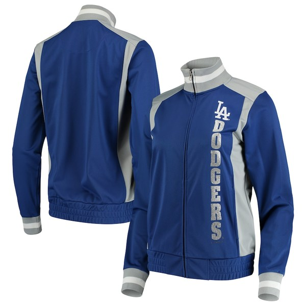 カールバンクス レディース ジャケット&ブルゾン アウター Los Angeles Dodgers G-III 4Her by Carl Banks Women's On Deck Full-Zip Track Jacket Royal