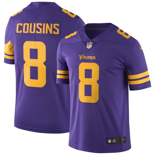 ナイキ メンズ シャツ トップス Kirk Cousins Minnesota Vikings Nike Color Rush Vapor Untouchable Limited Jersey Purple