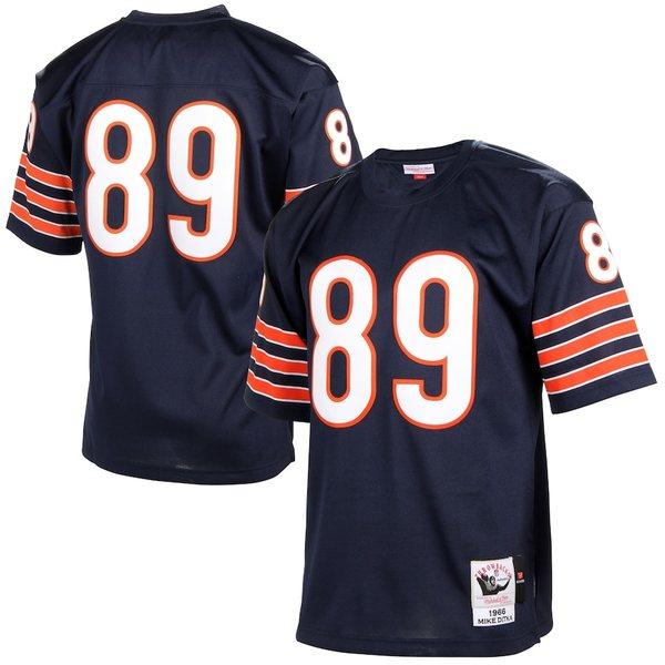 ミッチェル&ネス メンズ シャツ トップス Mike Ditka Chicago Bears Mitchell & Ness Authentic Throwback Jersey Navy Blue