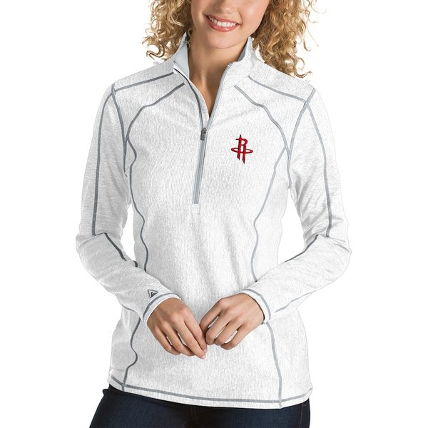 アンティグア レディース ジャケット&ブルゾン アウター Houston Rockets Antigua Women's Tempo Half-Zip Pullover Jacket White