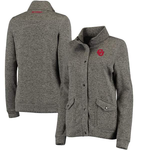 コロシアム レディース ジャケット&ブルゾン アウター Oklahoma Sooners Colosseum Women's Flyaway Full-Zip Jacket Charcoal