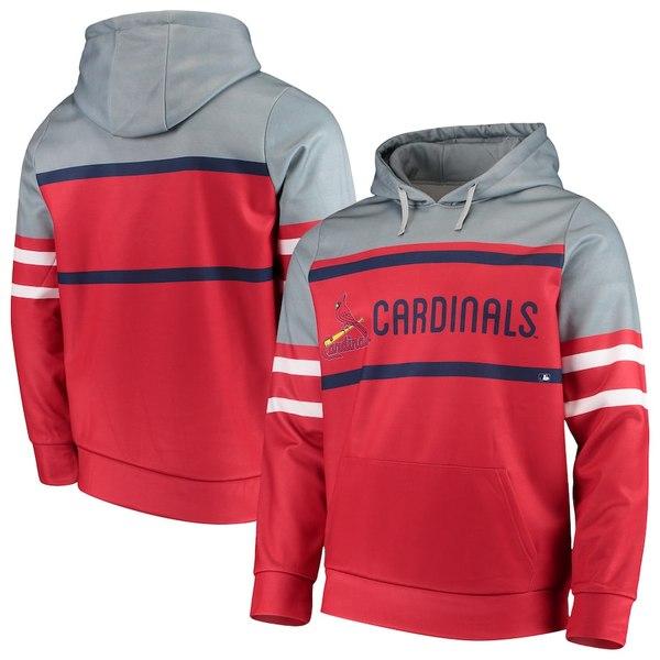 フォコ メンズ パーカー・スウェットシャツ アウター St. Louis Cardinals Fleece Pullover Hoodie Red