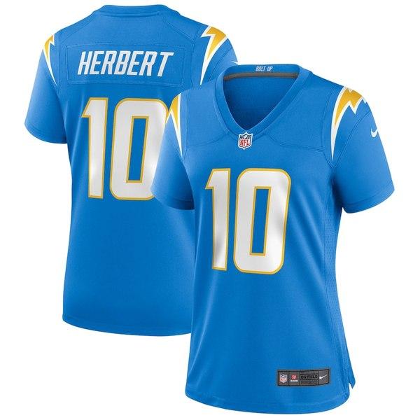 ナイキ レディース シャツ トップス Justin Herbert Los Angeles Chargers Nike Women's 2020 NFL Draft First Round Pick Game Jersey Powder Blue