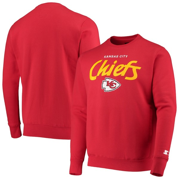 スターター メンズ シャツ トップス Kansas City Chiefs Starter All American Sweatshirt Red
