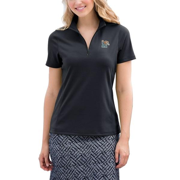 ビンテージアパレル レディース ポロシャツ トップス Memphis Tigers Women's Vansport Micro-Waffle Mesh Polo Black