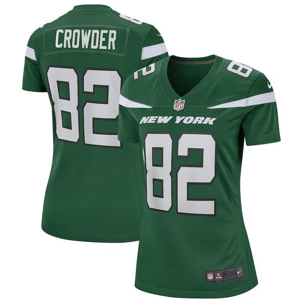 ナイキ レディース シャツ トップス Jamison Crowder New York Jets Nike Women's Game Jersey Gotham Green