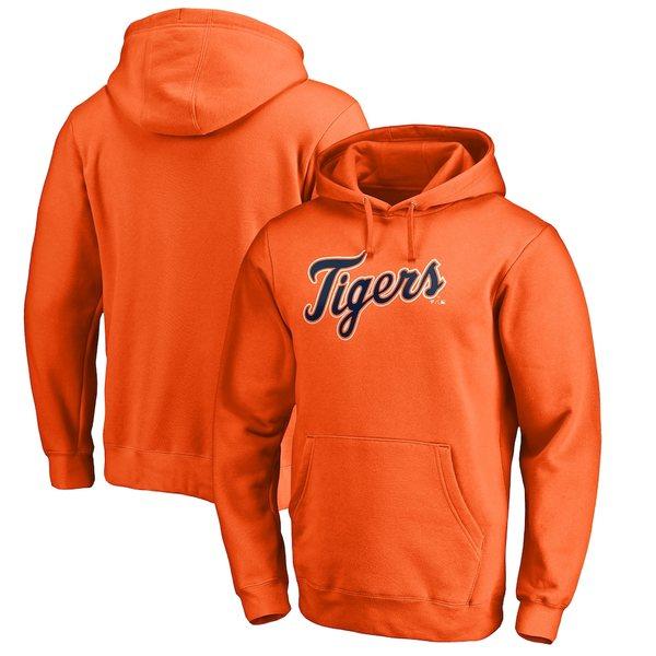 ファナティクス メンズ パーカー・スウェットシャツ アウター Detroit Tigers Fanatics Branded Big & Tall Team Wordmark Pullover Hoodie Orange