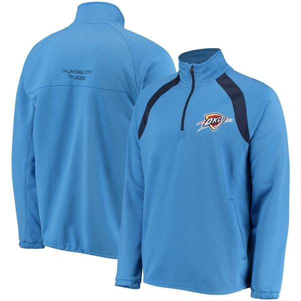 カールバンクス メンズ ジャケット&ブルゾン アウター Oklahoma City Thunder G-III Sports by Carl Banks High Impact Quarter-Zip Pullover Jacket Blue