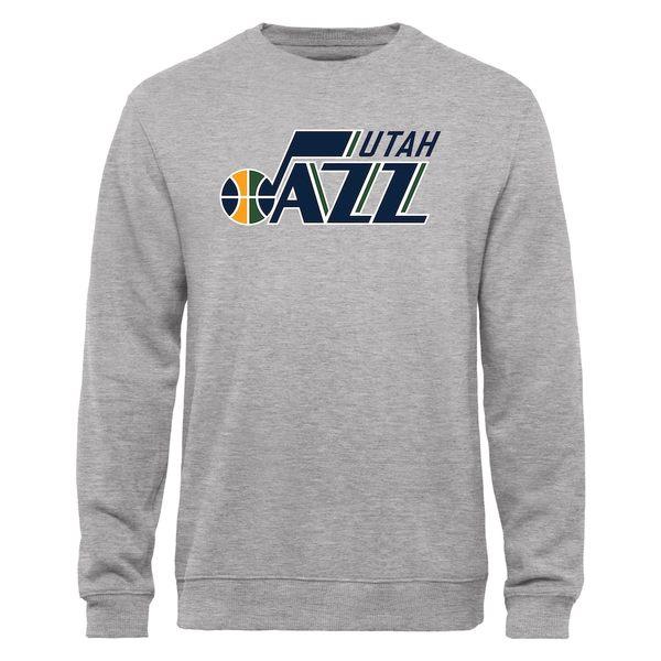 ファナティクス メンズ パーカー・スウェットシャツ アウター Utah Jazz Fanatics Branded Primary Logo Sweatshirt Heathered Gray