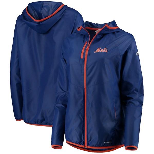 マジェスティック レディース ジャケット&ブルゾン アウター New York Mets Majestic Women's Absolute Dominance Full-Zip Jacket Royal