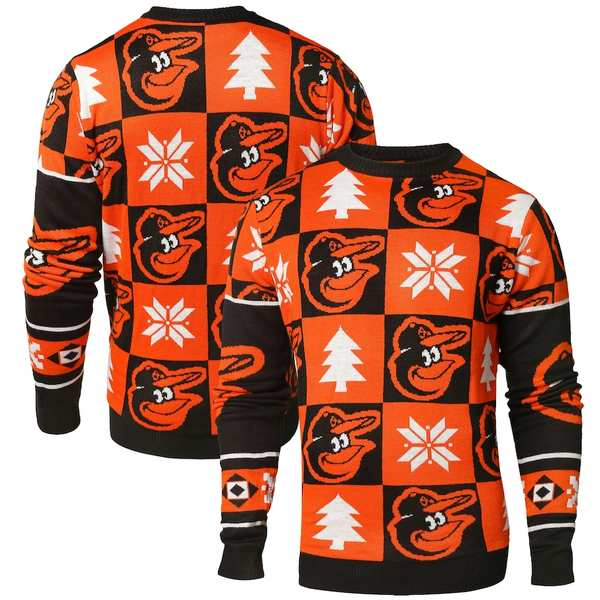フォコ メンズ シャツ トップス Baltimore Orioles Patches Ugly Pullover Sweater Black