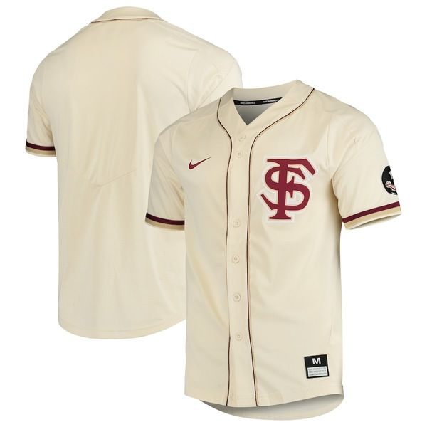 ナイキ メンズ シャツ トップス Florida State Seminoles Nike Vapor Untouchable Elite Full-Button Replica Baseball Jersey Tan