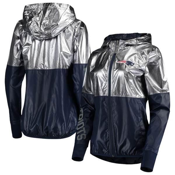 カールバンクス レディース ジャケット&ブルゾン アウター New England Patriots G-III 4Her by Carl Banks Women's Scrimmage Full-Zip Jacket Pewter