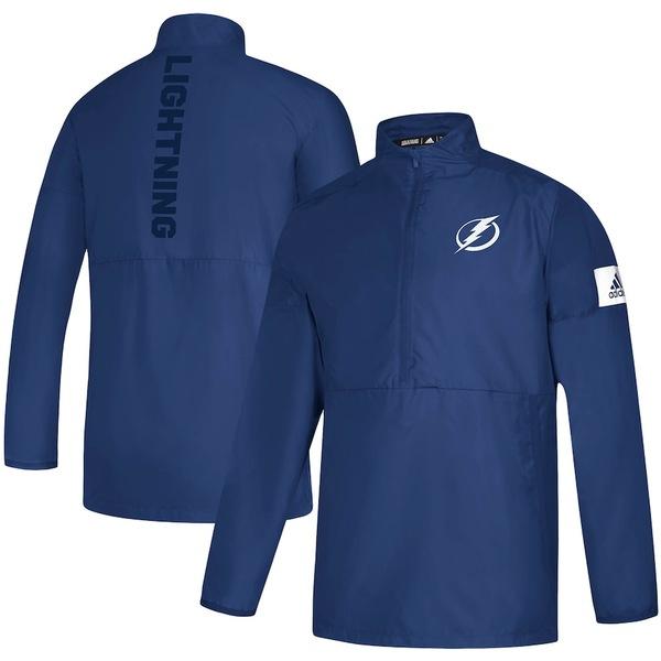 アディダス メンズ ジャケット&ブルゾン アウター Tampa Bay Lightning adidas Game Mode Quarter-Zip climalite Jacket Blue