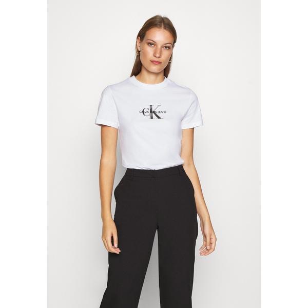 カルバンクライン レディース トップス Tシャツ bright white 5%OFF 全商品無料サイズ交換 MONOGRAM GLITTER Print 即日出荷 erhm01fa - T-shirt TEE