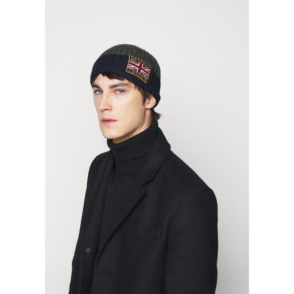 ハケット ロンドン メンズ アクセサリー 帽子 green - 奉呈 全商品無料サイズ交換 Beanie 完売 BEANIE erhm01fc navy