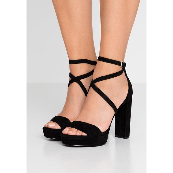 マイケルコース レディース サンダル シューズ CHARLIZE PLATFORM - High heeled sandals - black esbk0041
