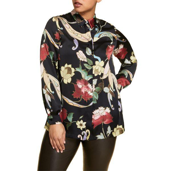 マリナリナルディ レディース シャツ トップス Marina Rinaldi Barone Button-Up Shirt (Plus Size) Black