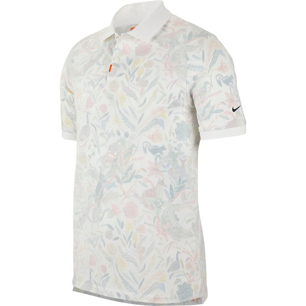 ナイキ メンズ ポロシャツ トップス Nike Men's Print Golf Polo White/BrilliantOrange