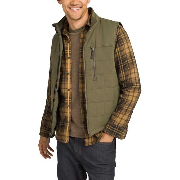 プラーナ メンズ ジャケット&ブルゾン アウター prAna Men's Zion Quilted Vest CargoGreen