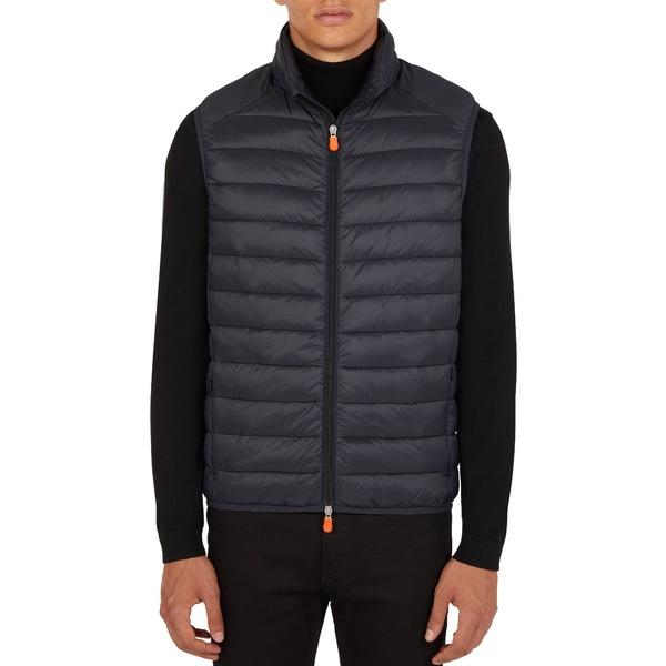 セーブザダック メンズ ジャケット&ブルゾン アウター Save The Duck Men's Winter Vest Black