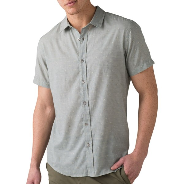 プラーナ メンズ シャツ トップス prAna Men's Pikeville Short Sleeve Shirt Pistachio
