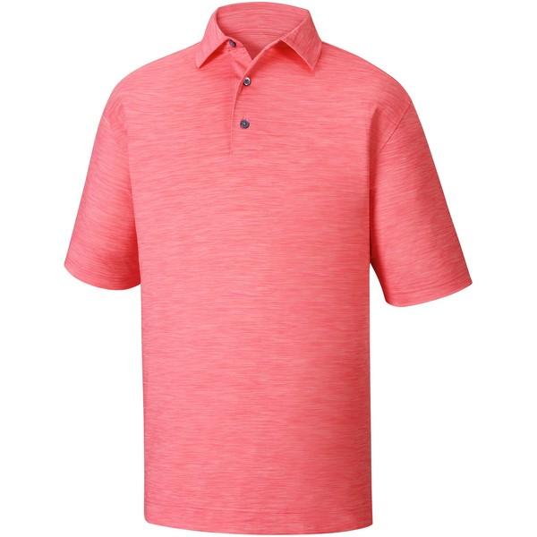 フットジョイ メンズ ポロシャツ トップス FootJoy Men's Space Dye Golf Polo PinkAzalea