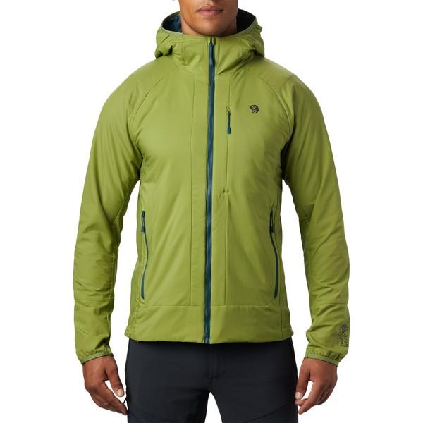 マウンテンハードウェア メンズ ジャケット&ブルゾン アウター Mountain Hardwear Men's Kor Cirrus Hybrid Hoodie JustGreen