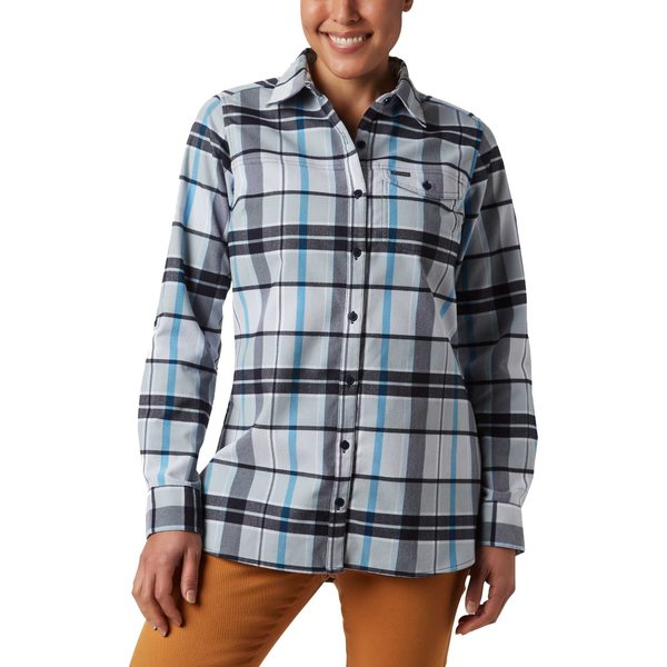 コロンビア レディース シャツ トップス Columbia Women's Silver Ridge 2.0 Flannel Tunic Button Down Shirt FathomBluePlaid