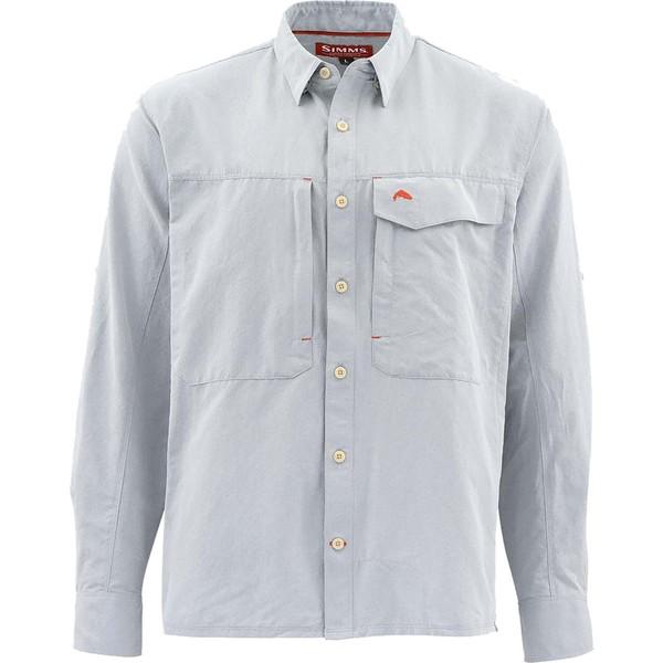 シムズ メンズ シャツ トップス Simms Men's Guide Marl Long Sleeve Button Down Shirt (Regular and Big & Tall) DarkSlate