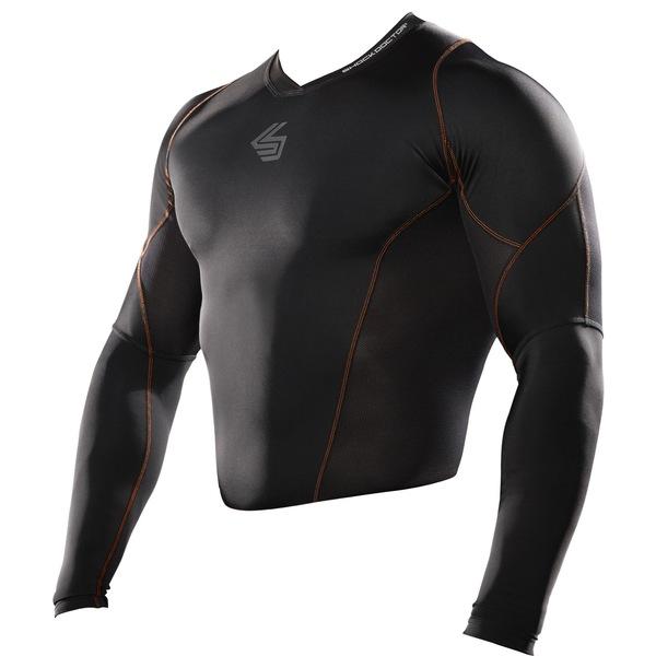 ショックドクター メンズ シャツ トップス Shock Doctor SVR Compression Shirt Black