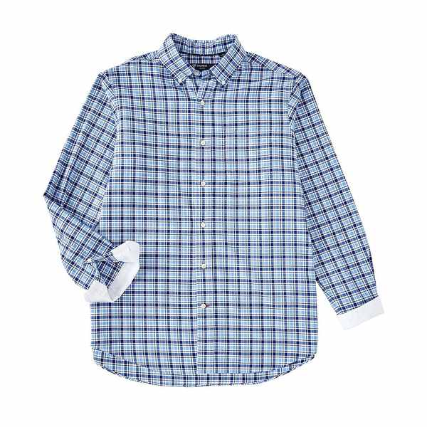 クレミュ メンズ シャツ トップス Plaid Oxford Long-Sleeve Woven Shirt Periwinkle