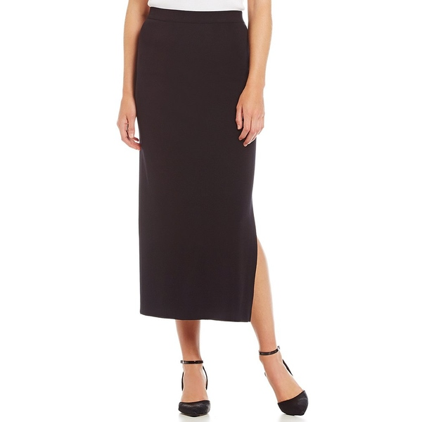 ミソーク レディース スカート ボトムス Knit Wrinkle-Free Washable Midi Pencil Skirt Black