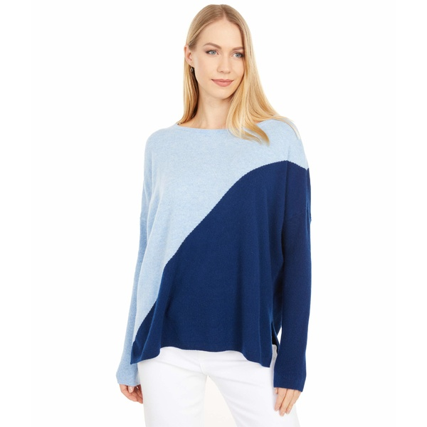 レディース Sweater Blue リリーピュリッツァー アウター ニット&セーター Napa Diagonal Oxford Cashmere Color-Block