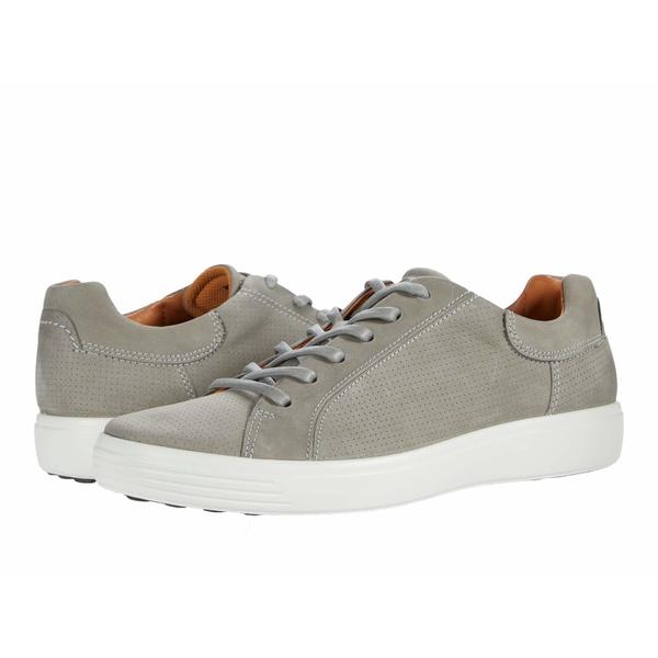 エコー メンズ シューズ メーカー再生品 スニーカー Wild 正規逆輸入品 Dove Nubuck Street 全商品無料サイズ交換 Soft 7 Sneaker Perforated Leather