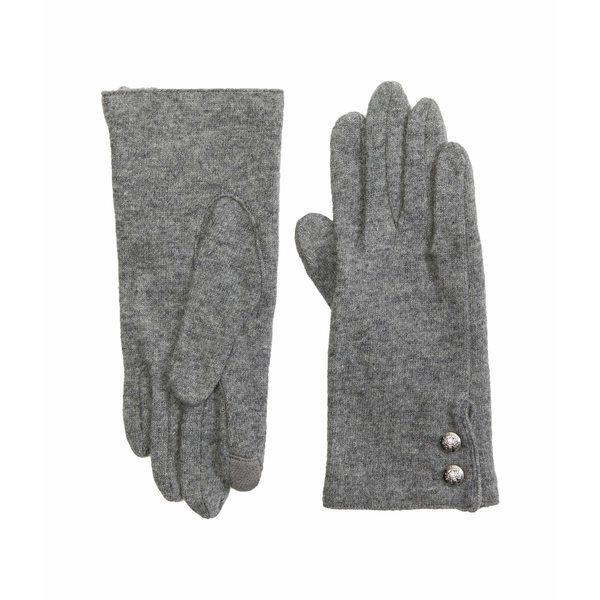 ラルフローレン 安い レディース アクセサリー 手袋 新色追加して再販 Grey Heather Blend Gloves Cashmere Two-Button 全商品無料サイズ交換 Touch