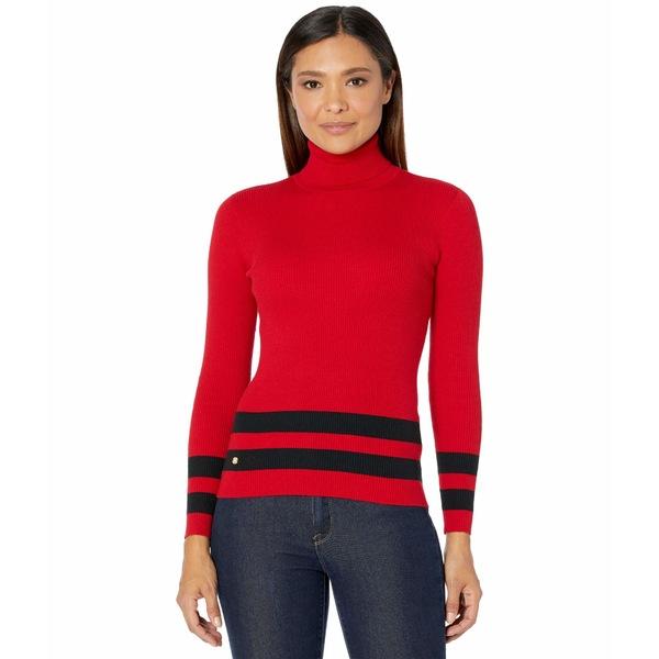 Striped Petite Lipstick ニット&セーター Sweater Black Turtleneck ラルフローレン レディース Polo アウター Red/
