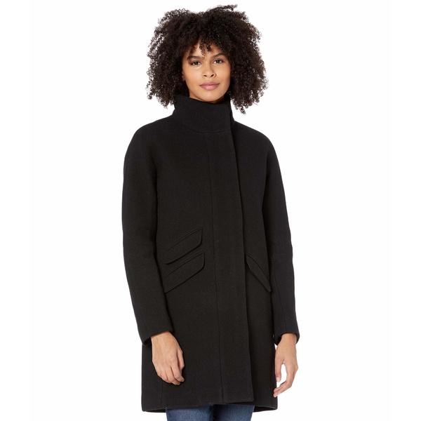 【正規販売店】 ジェイクルー レディース コート アウター Cocoon Coat in Italian Stadium-Cloth Wool Black, ルベツムラ ad94141f