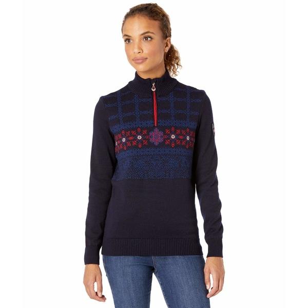 アウター ニット&セーター レディース Melange/Red/Off-White Oberstdorf Navy/Atlantic Sweater ダールオブノルウェイ