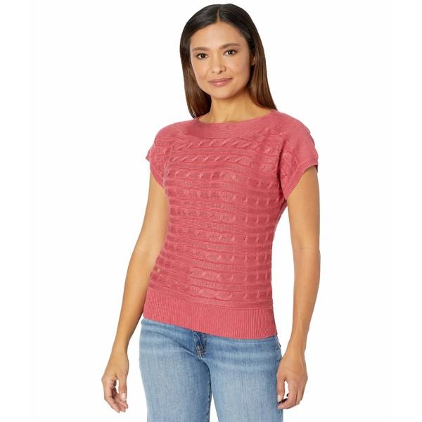 アウター Cable-Knit ニット&セーター ラルフローレン Moroccan Boatneck Sweater レディース Pink