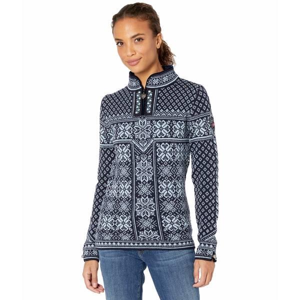 Blue ニット&セーター レディース ダールオブノルウェイ Sweater Navy/Ice Peace アウター