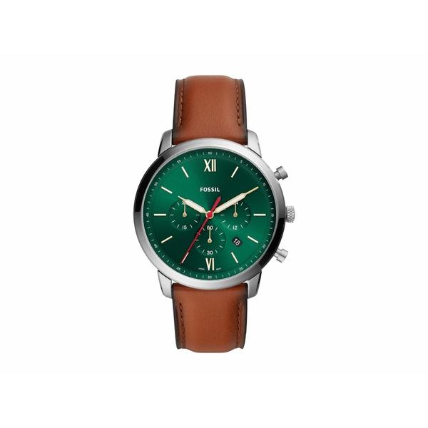 【ファッション通販】 フォッシル メンズ 腕時計 アクセサリー Neutra Chronograph Watch FS5735 Brown/Green, 100%本物保証! 2ed25609