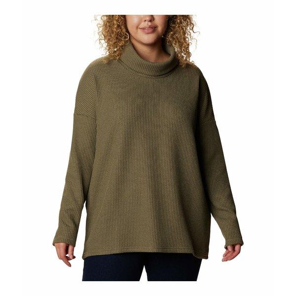ニット&セーター アウター Fleece コロンビア Plus Green Thermal Stone Chillin Pullover レディース Size