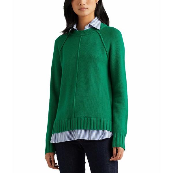 Layered ラルフローレン Cotton アウター Emerald ニット&セーター レディース Sweater Vivid