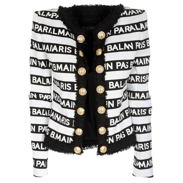 バルマン レディース ジャケット&ブルゾン アウター Balmain Logo Motif Jacket -