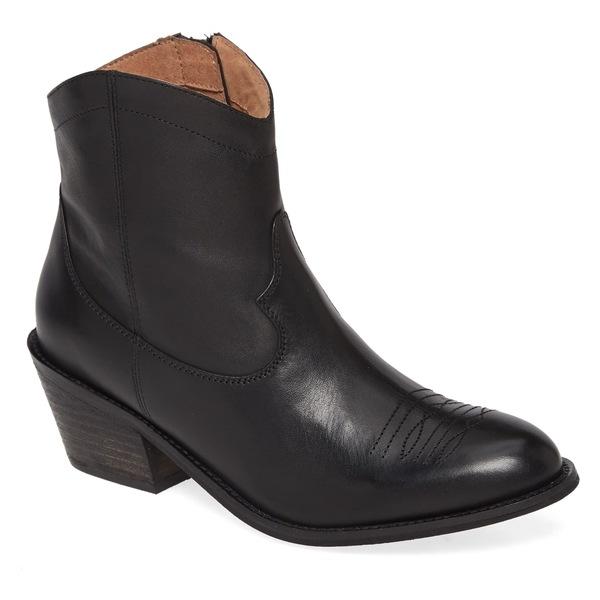 セイシェルズ レディース ブーツ&レインブーツ シューズ Seychelles Mysterious Bootie (Women) Black Leather